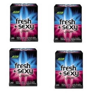 Playtex Fresh and Sexy Intimate Wipes 20count(Pack of 4)