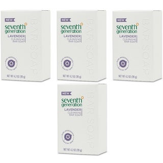 Seventh Generation Cleansing Bar Soap Lavender 4.2-ounce (Pack of 4)