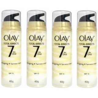 Olay Total Effects Antiageing and Fairness Cream 40-gram (Pack of 4)