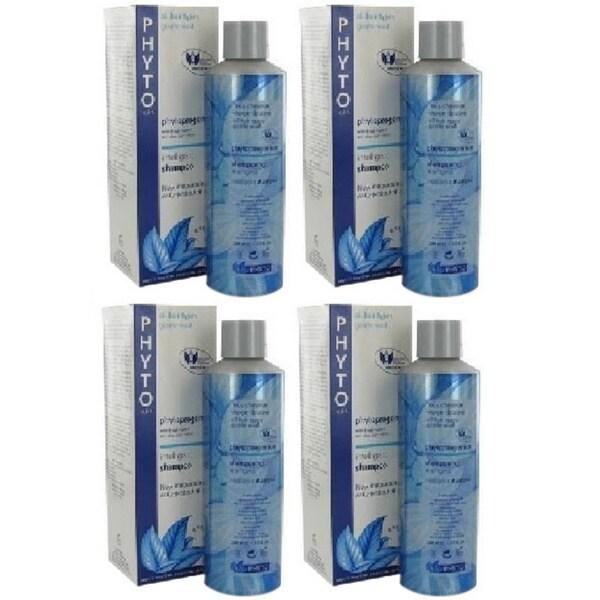 Phyto Phytoprogenium Intelligent Shampoo All Hair Types 200ml (Pack of 4)