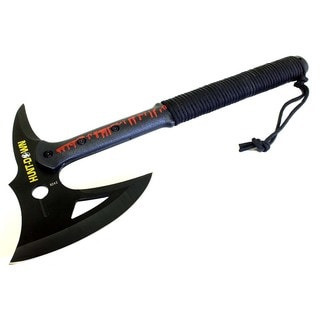 Hunt-Down 16-inch Tactical Axe with Black Blade and Paracord Wrapped Handle