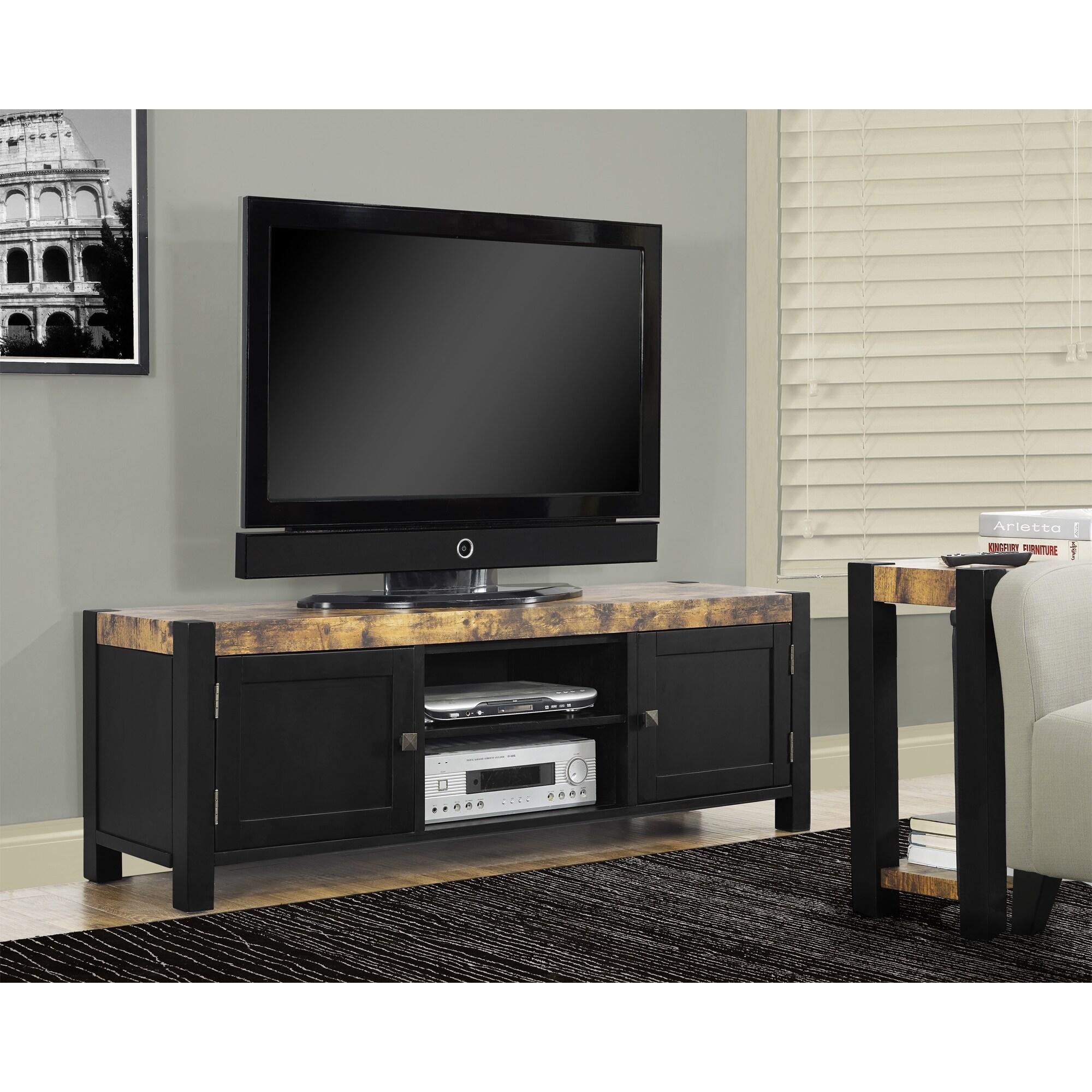 Overstock.com Distressed Black 60-inch TV Console