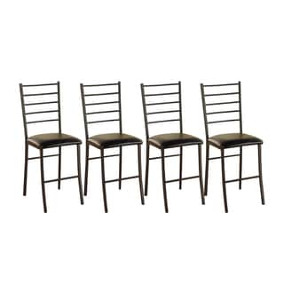 Simple Living Black Silvia Counter-height Stool (Set of 4)
