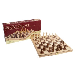 10.5-inch Deluxe Folding Wood Chess Set