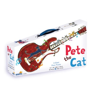 Pete the Cat 2-Sided Floor Puzzle Suitcase: 36 Pcs