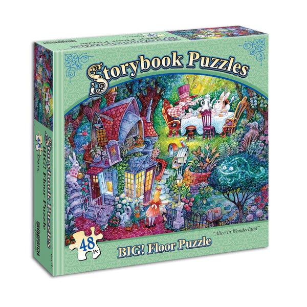"Storybook Puzzles - ""Alice in Wonderland"" BIG! Floor Puzzle: 48 Pcs"