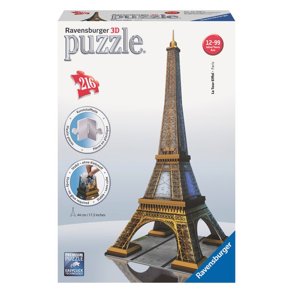 3D Puzzle - Eiffel Tower: 216 Pcs