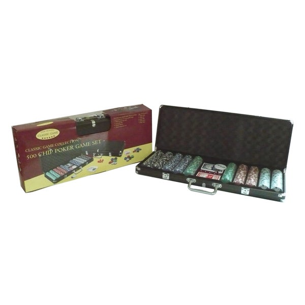 500 Chip Poker Game Set in Black Aluminum Case 14422423