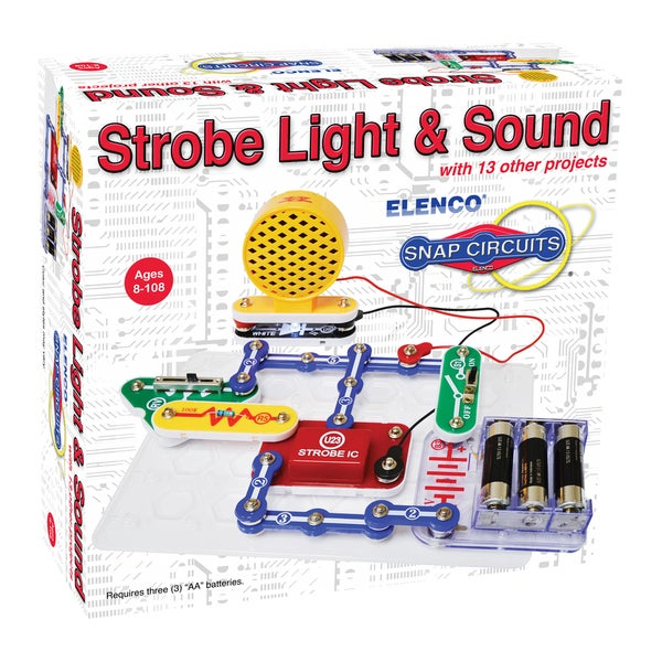 Snap Circuits Mini Kit: Strobe Light & Sound