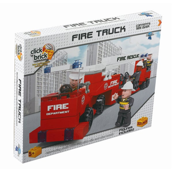 Click Brick - Fire Truck: 201 Pcs