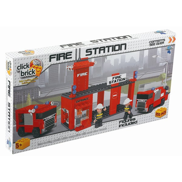 Click Brick - Fire Station: 253 Pcs