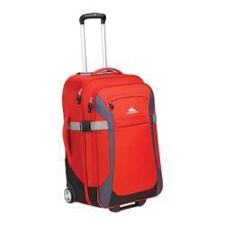 High Sierra Red/Mercury/Black/Ash 25-inch Rolling Upright Suitcase