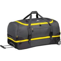 High Sierra Drop-Bottom Grey/Mercury/Black/Sunflower 34-inch Wheeled Duffel Bag