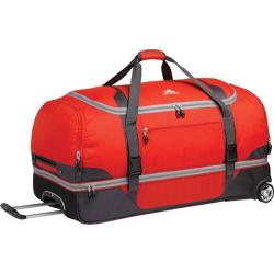 High Sierra Drop-Bottom Red/Mercury/Black/Ash 34-inch Rolling Duffel Bag