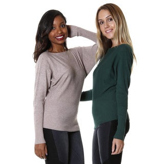 Hadari Women's Knit Dolman Sweater (Set of 2)