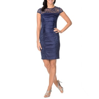 London Times Women's Tier Panel Sheath Dress