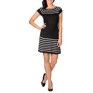 London Times Women's Stripe Sweater Dress
