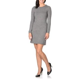 London Times Women's Textured Sweater Dress