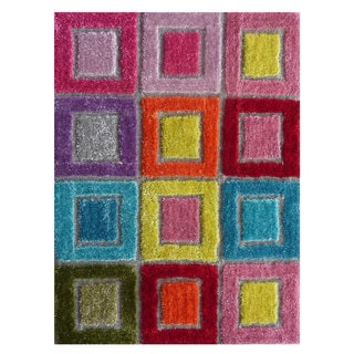 Excite Multi-colored Polyester Rug (3'3 x 4'8)