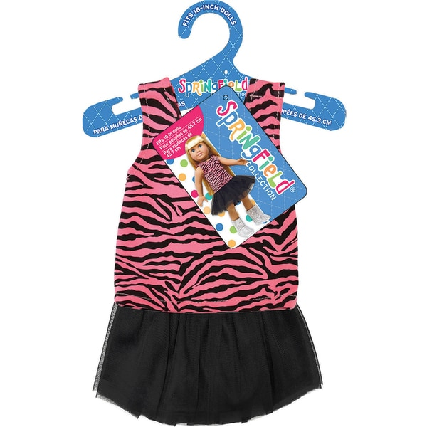 Springfield Collection Tank & Tutu-Pink Zebra Top And Black Tutu Skirt