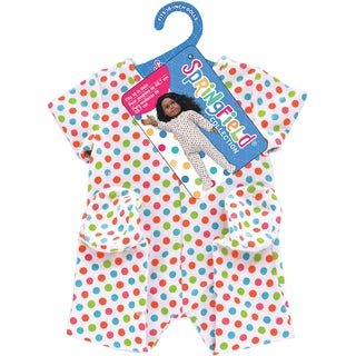 Springfield Collection Footie Pajamas-White With Polka Dots
