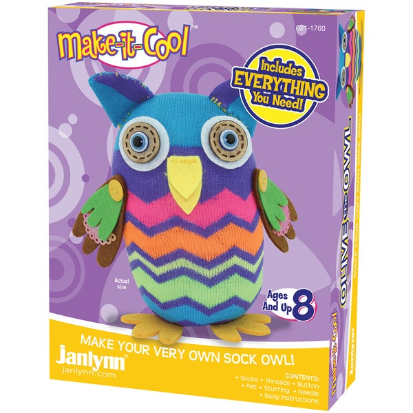 Olive The Owl Sock Animal Kit