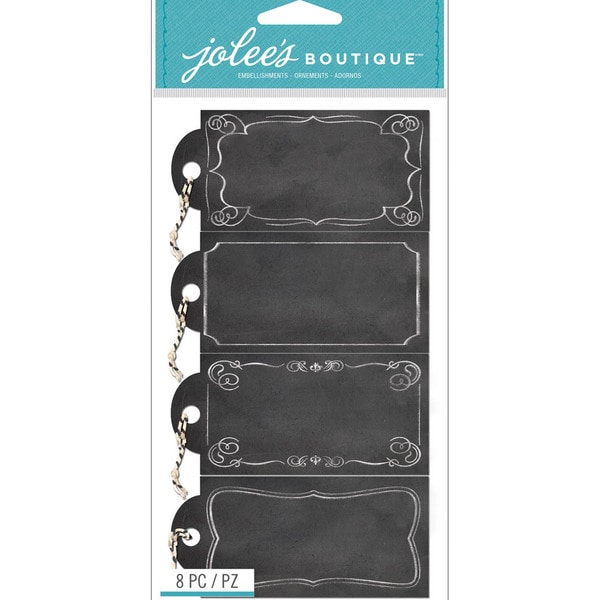 Jolee's Boutique Tags W/Twine Stickers-Chalk Tags