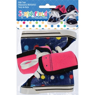 Springfield Collection High Tops-Blue With Polka Dots