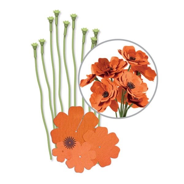 We R Crepe Paper Flowers Kit-Orange