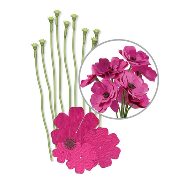 We R Crepe Paper Flowers Kit-Pink