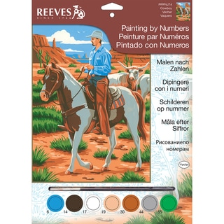 """Junior Paint By Number Kit 9""""X12""""-Cowboy"""