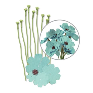 We R Crepe Paper Flowers Kit-Teal