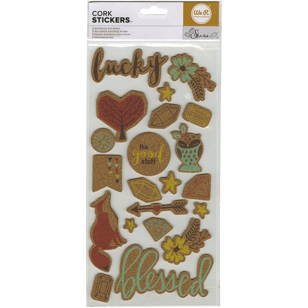 Shine Printed Cork Stickers