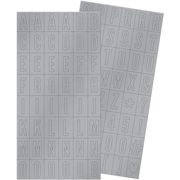 Silver & Gold Alpha Block Stickers