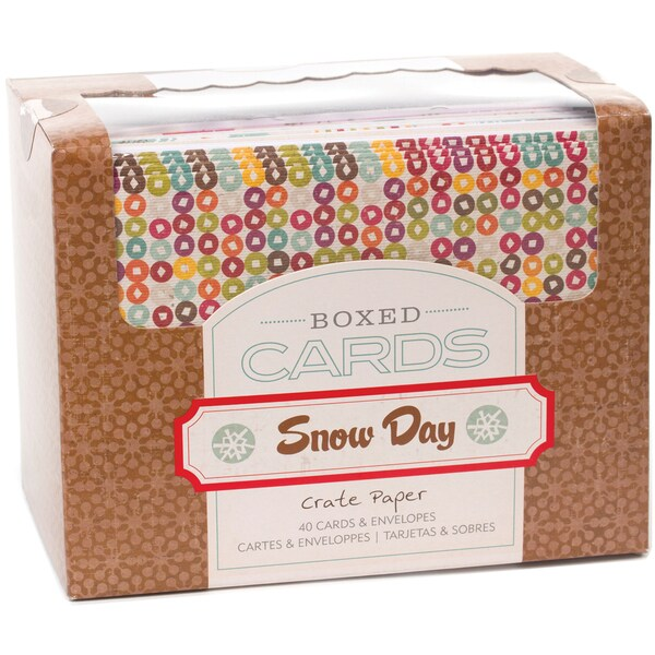 "Crate Paper A2 Cards & Envelopes (4.375""X5.75"") 40/Box-Snow Days"