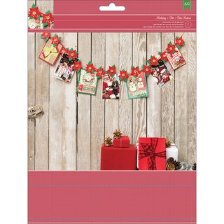 Christmas Card Display Garland Kit-Poinsettia