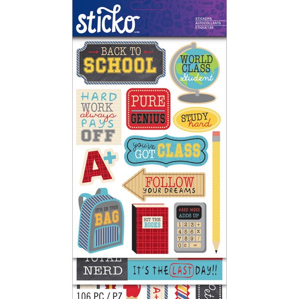 Sticko Flip Pack-School