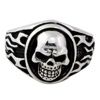 Sterling Silver Evergreen Skull Ring