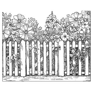 "Crafty Individuals Unmounted Rubber Stamp 4.75""X7"" Pkg-Beyond The Picket Fence"