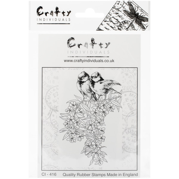 "Crafty Individuals Unmounted Rubber Stamp 4.75""X7"" Pkg-Feathered Friends"