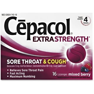 Cepacol Sore Throat and Cough Mixed Berry Lozenges (Pack of 16)