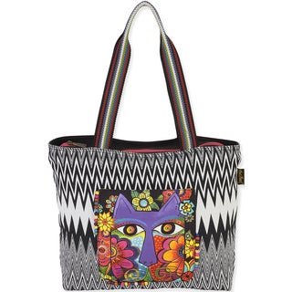 "Shoulder Tote 17""x13"" -Blossoming Feline"