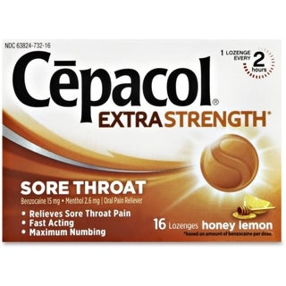 Cepacol Extra Strength Honey Lemon Lozenges (16 Count)