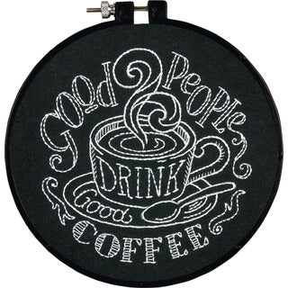 """Stitch Wits Good People Mini Stamped Embroidery Kit-6"""" Round"""