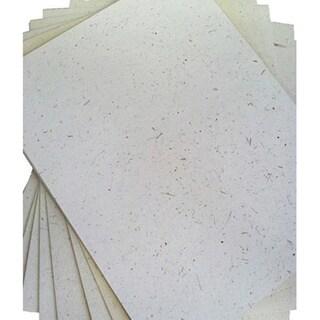 ELEPHANT DUNG PAPER (25pc) - Natural White (Sri Lanka)