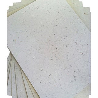 ELEPHANT DUNG PAPER (25pc) - Natural White (Sri Lanka)