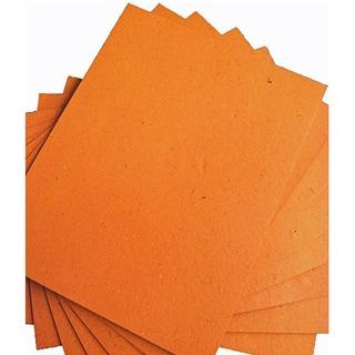 ELEPHANT DUNG PAPER (25pc) - Orange (Sri Lanka)