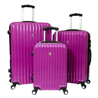 World Traveler Voyager Expandable 3-piece Hardside Spinner Luggage Set With TSA Lock