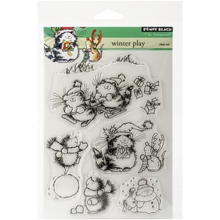 """Penny Black Clear Stamps 5""""X7.5"""" Sheet-Winter Play"""