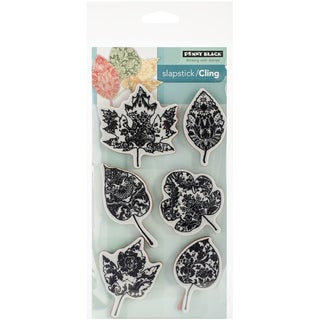 """Penny Black Cling Rubber Stamp 3.75""""X6.75"""" Sheet-Filigree Foliage"""